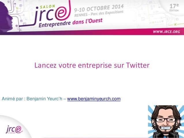 Accompagnement et aides  financières Lancez votre entreprise de Pôle sur Emploi  Twitter  Animé par : Benjamin Yeurc'h – w...
