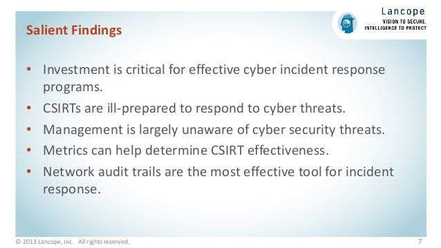 Ponemon Report Cyber Security Incident Response Are We As Prepared
