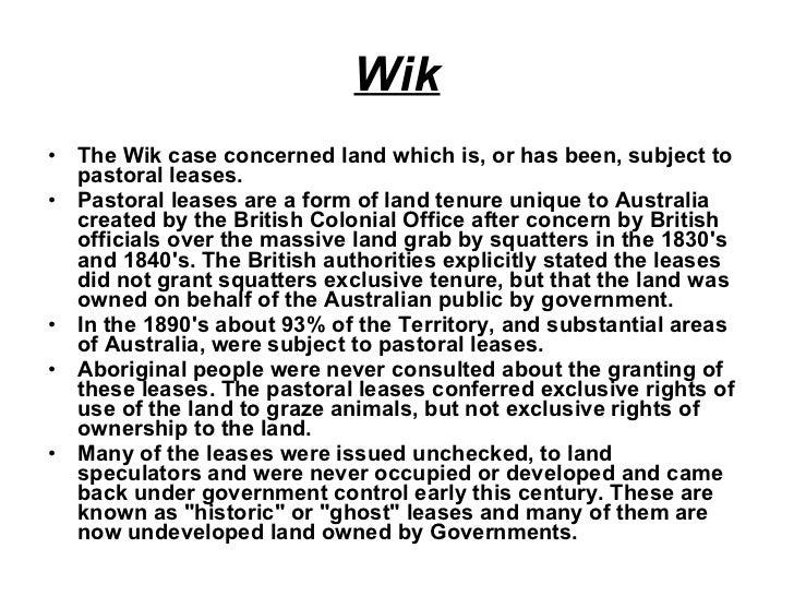 the wik decision