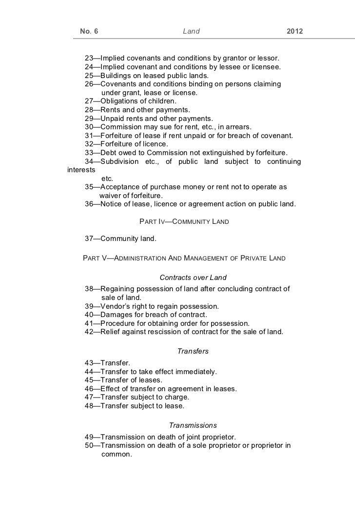 Kenya Land Act2012