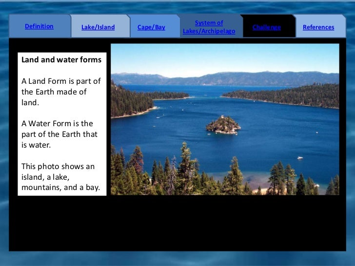 Land and water forms lesson