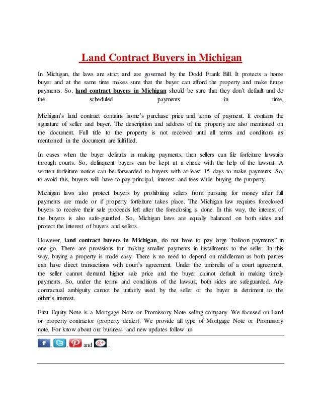 land contract form michigan - Bare.bearsbackyard.co