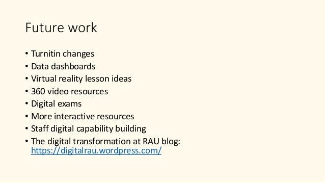 Digital transformation at RAU