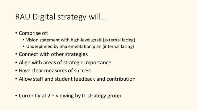 Digital transformation at RAU Slide 3