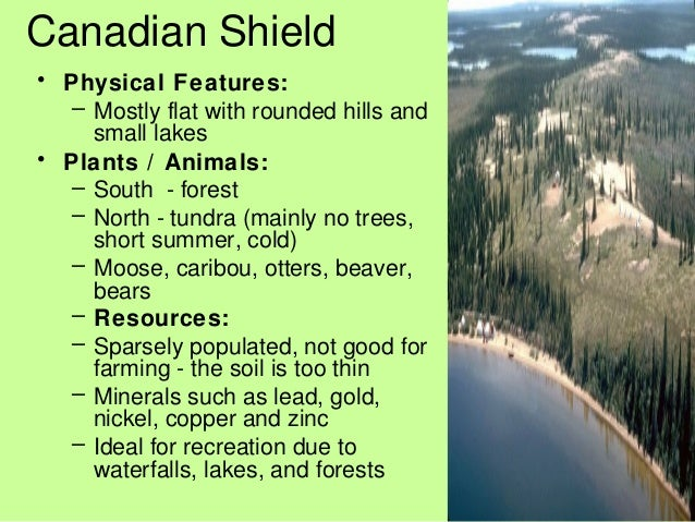 Landform Regions - Physical characteristics of canada