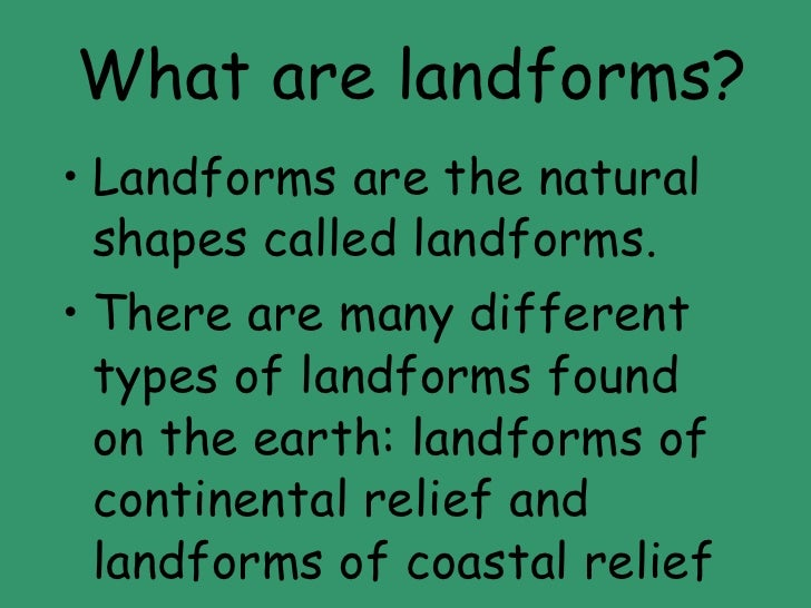 factors responsible for landforms of coastal