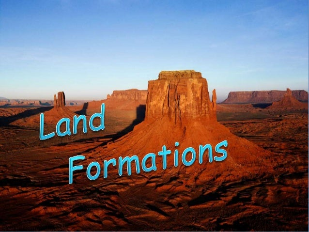 land formations