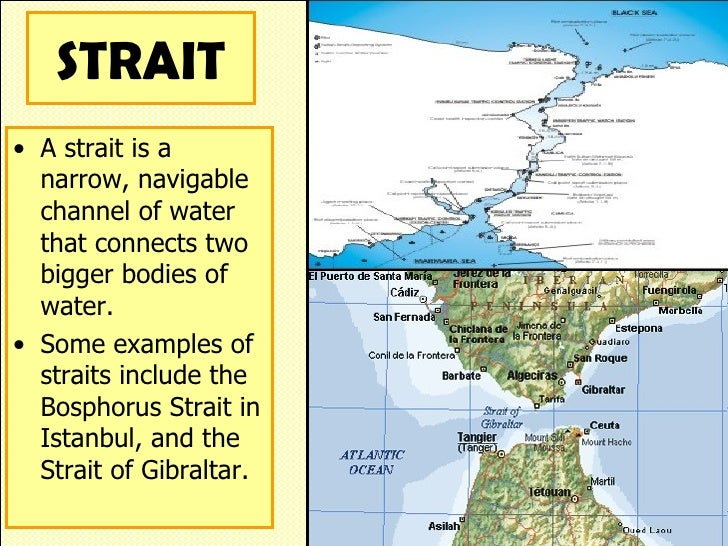 Difference between gulf and strait.