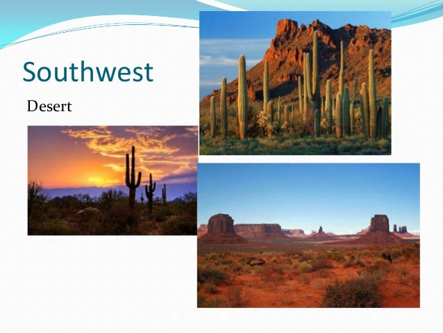 Southwest region landforms