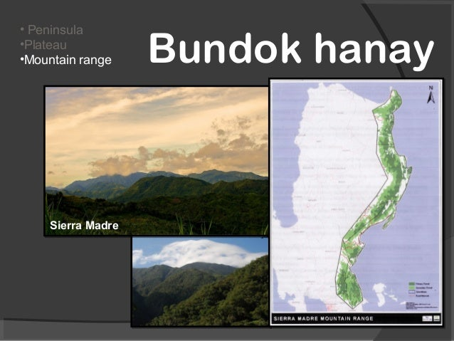 Land forms of the philippines grade 1 2 peninsulaplateaumountain range bundok hanaysierra madre sciox Image collections