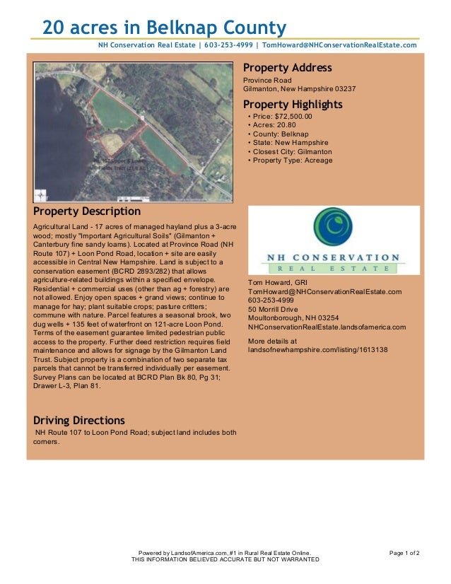 land for sale flyer