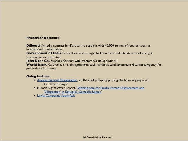 Friends of Karuturi:Djibouti: Signed a contract for Karuturi to supply it with 40,000 tonnes of food per year atinternatio...