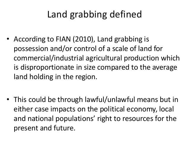 Land Grabbing; silent pain for smallholder farmers in Uganda. Slide 2