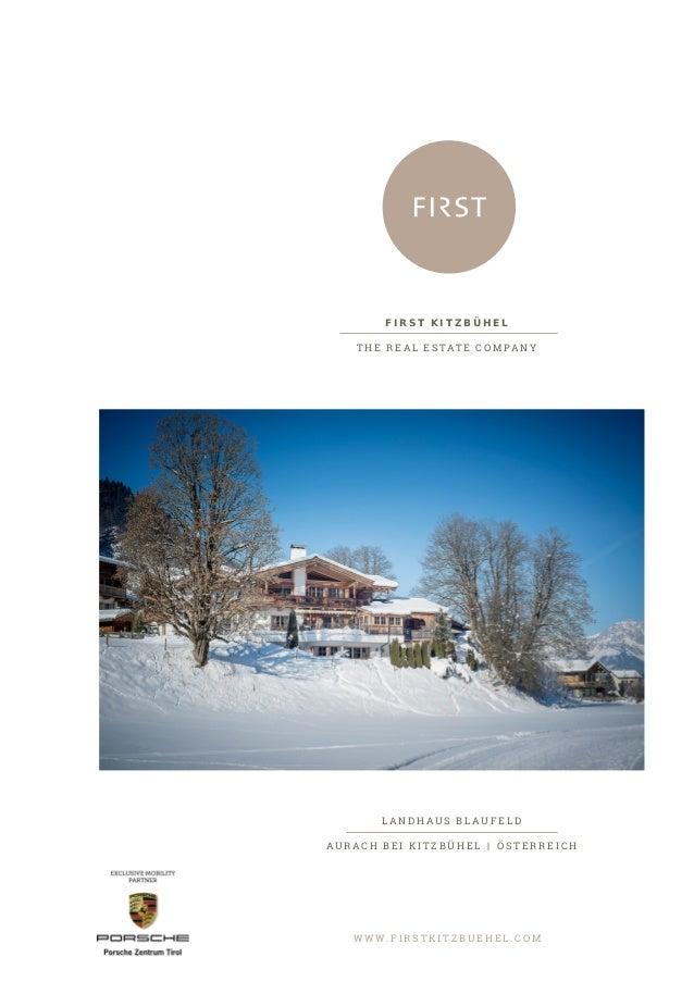 Landhaus Blaufeld - First Kitzbühel Immobilien