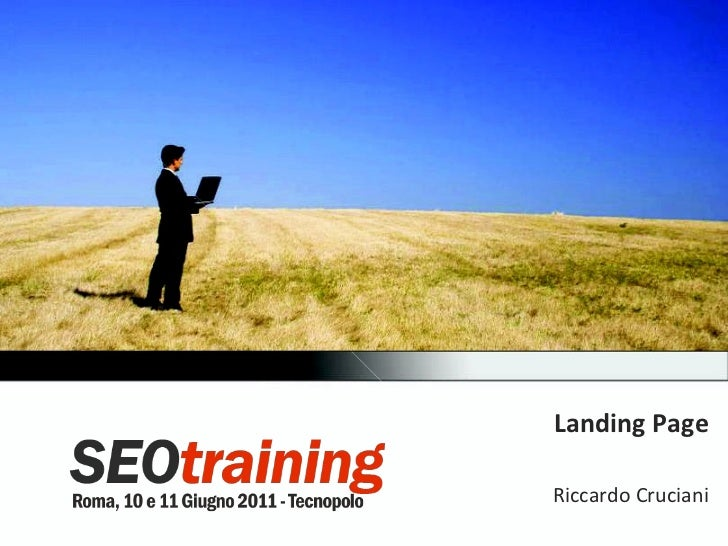 Landing Page Riccardo Cruciani