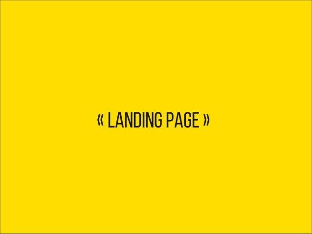 « landing page »