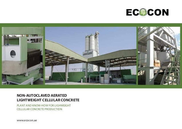 ECOCON plants for production non-aerated lightweight