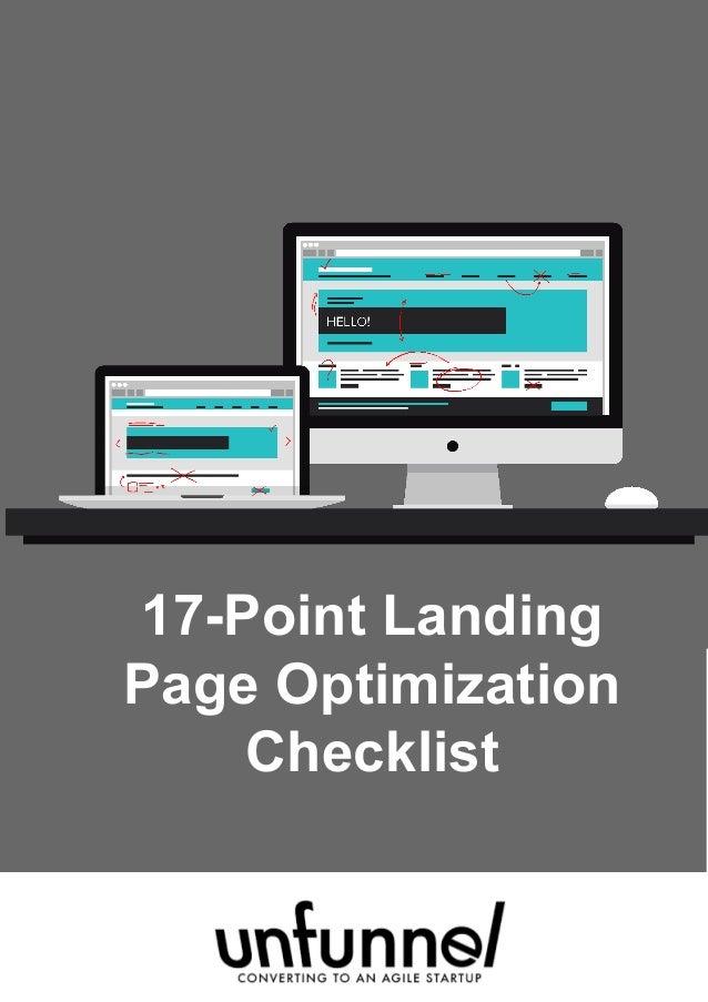 17-Point Landing Page Optimization Checklist