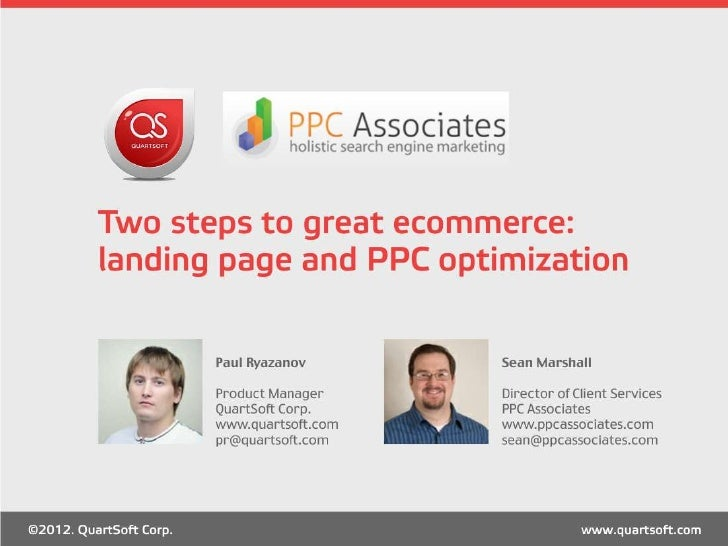 Two Facets of Great e-Commerce: PPC and Landing Page Best Practices