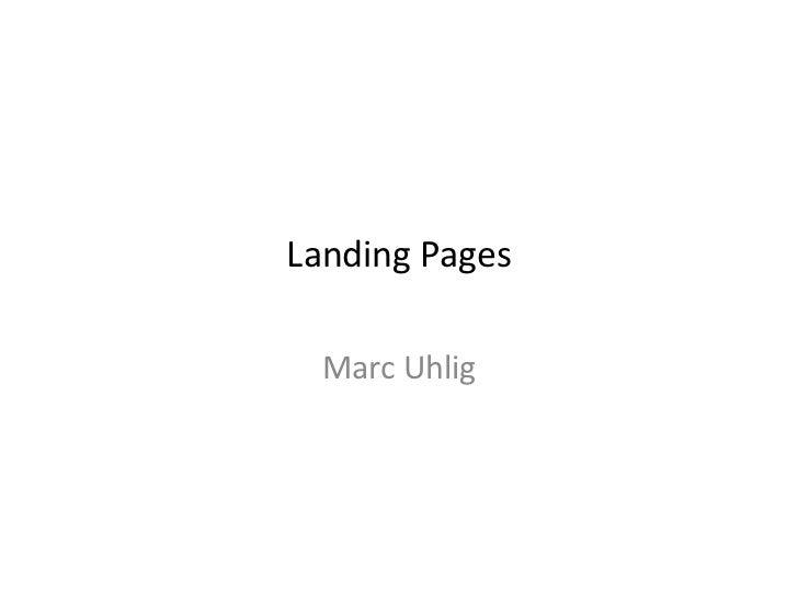 Landing Pages Marc Uhlig