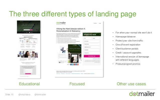 getting the most from your landing pagesCreate Effective Personalized Landing Pages Dotmailer 344768 #3