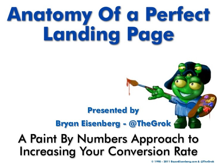 Anatomy Of a Perfect   Landing Page              Presented by       Bryan Eisenberg - @TheGrok A Paint By Numbers Approach...