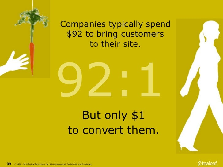 Companies typically spend                                                          $92 to bring customers                 ...