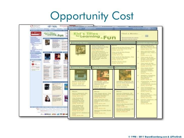 Opportunity Cost               © 1998 - 2011 BryanEisenberg.com & @TheGrok