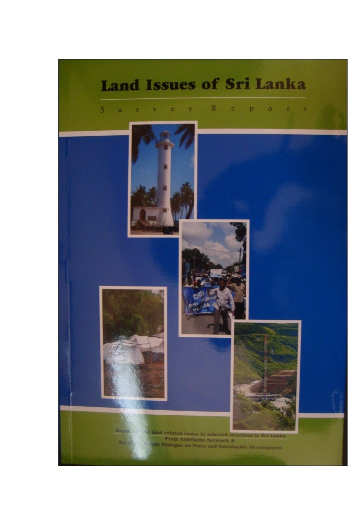 Land Issues of Sri Lanka Servey Report