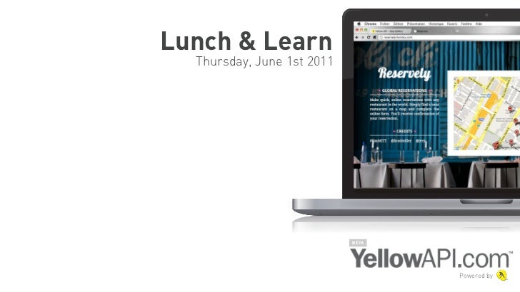 Lunch & Learn  Thursday, June 1st 2011                            BETA                                   Powered by