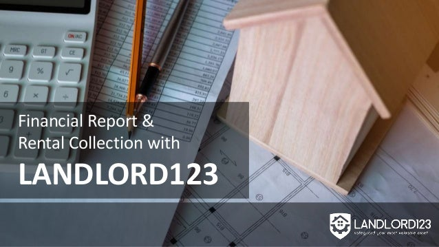 Financial Report & Rental Collection with LANDLORD123