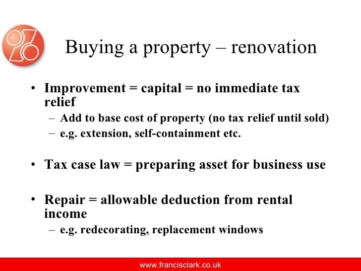 Tax Deduction Renovation Rental Property