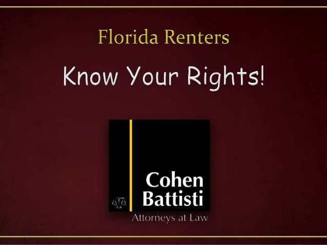 • In Florida, rental agreements are regulated by Chapter 83 of theFlorida Statutes.– Areas of regulation include:• Securit...