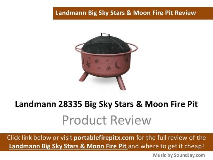Landmann 28335 Big Sky Stars Moon Fire Pit