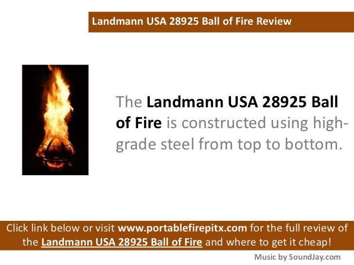 Landmann Usa 28925 Ball Of Fire Outdoor Fireplace