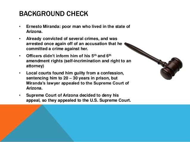 supreme court ruling on the miranda case made us headlines Dickerson v united states, 530 us 428 (2000),  in miranda v arizona, the supreme court held that statements of criminal suspects made while they are in custody and subject to interrogation by police may not be admitted in court unless the suspect first had certain  the supreme court then agreed to hear the case opinion of the.