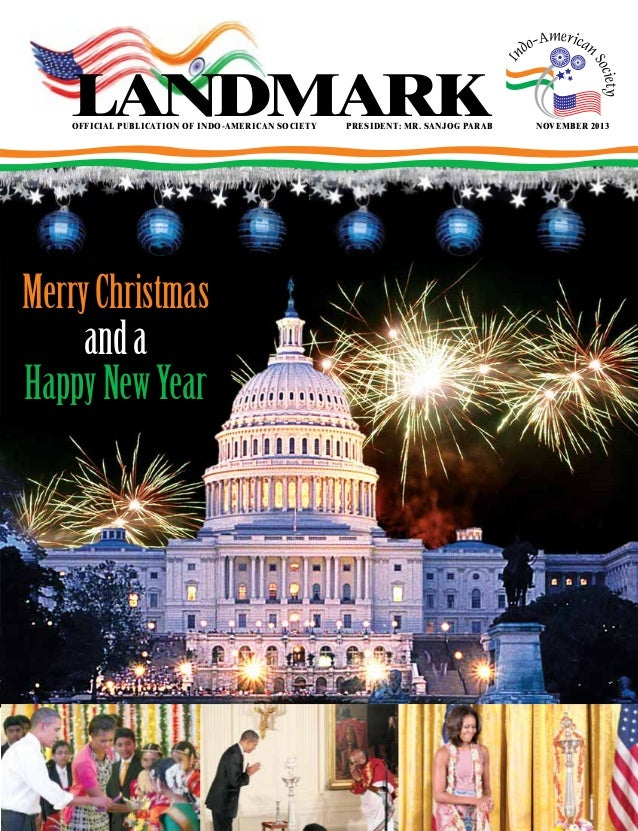 landmark  official publication of indo-american societyPresident: Mr. sanjog parab  Merry Christmas and a Happy New Year ...