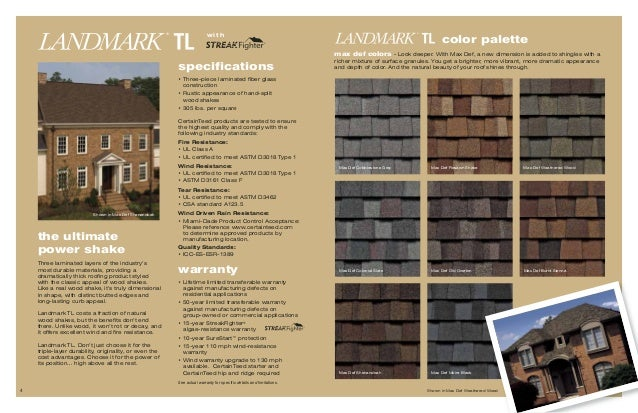 Certainteed Landmark Brochure