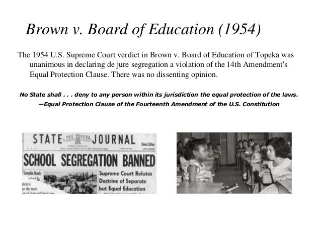An analysis of the case of brown versus board of education in the united states supreme court