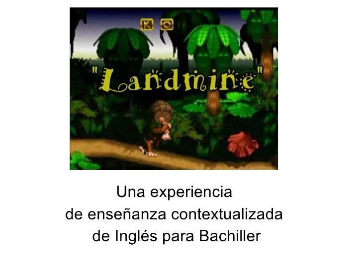 Una experiencia  de enseñanza contextualizada  de Inglés para Bachiller