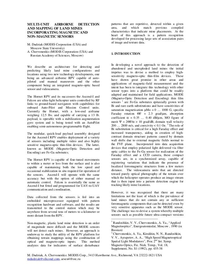 MULTI-UNIT AIRBORNE DETECTION                                patterns that are repetitive, detected within a givenAND MAPP...
