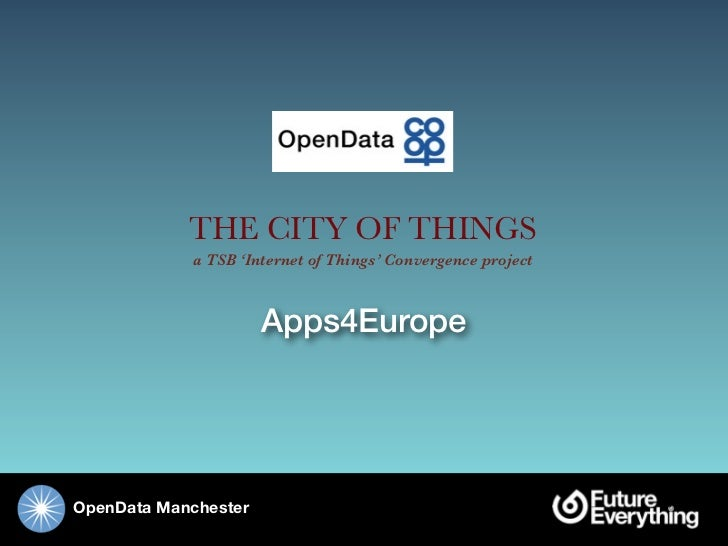 Open Data Cities and Transport Presentation