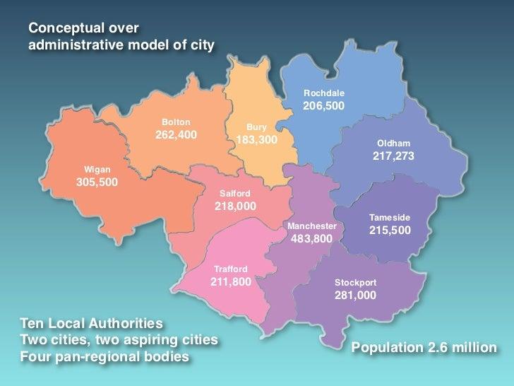 Conceptual over administrative model of city                                                  Rochdale                    ...