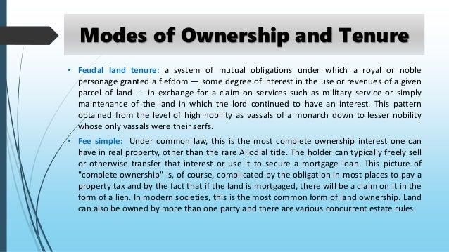Land ownership pattern