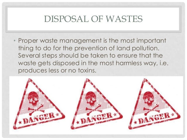 proper waste disposal essay Notice: disposal of hazardous waste using sinks, intentional evaporation, or as regular trash is against the law campus laboratories must abide by strict state and federal waste disposal requirements.