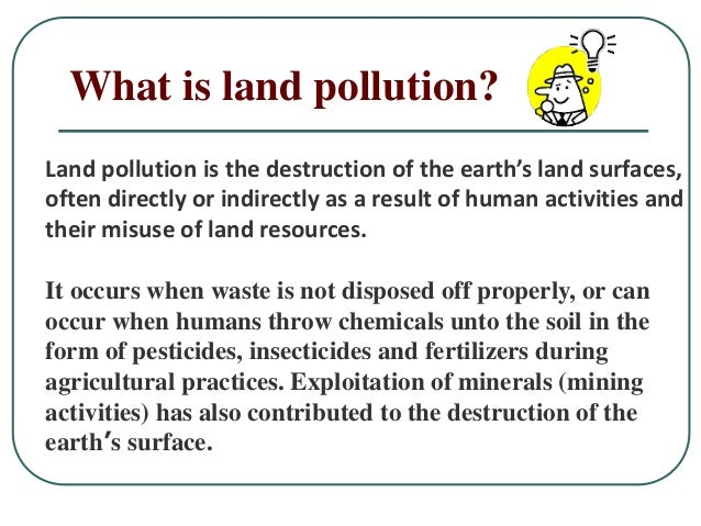Land pollution for Soil pollution definition