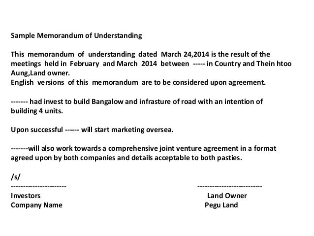 Land proposal near hanthawaddy international airport sample memorandum of understanding spiritdancerdesigns Image collections