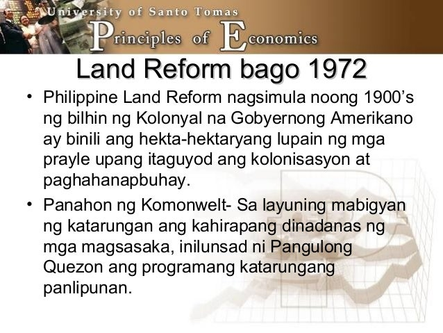 philippine land reform City of san fernando, philippines advocates of agrarian reform are divided over whether to end this government program that has seen two extensions since it was launched in 1987 kilusang magbubukid ng pilipinas (kmp) has objected to the comprehensive agrarian reform program extension with reforms.