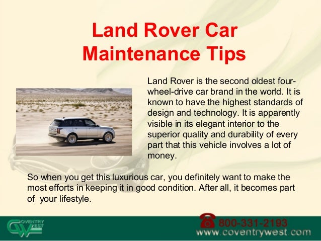 Land Rover is the second oldest four- wheel-drive car brand in the world. It is known to have the highest standards of des...
