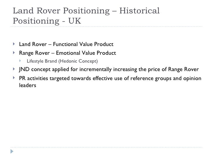 marketing mix case study for company land rover The environmental concern and the marketing communications of a comparative case study of two summary table of land rover's marketing communications.